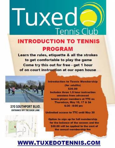 Introduction to Tennis – May 2018