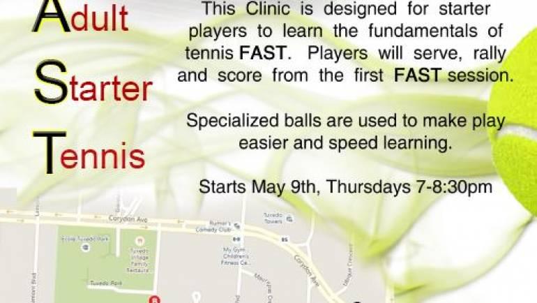 FAST Program (Fun Adult Starter Tennis)